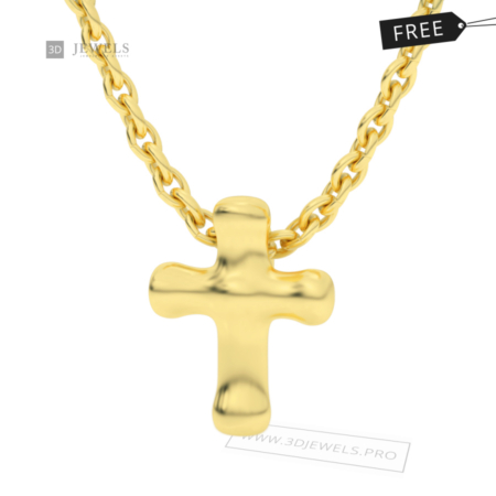 small-cross-pendant-free-jewelry-3d-model-image-1