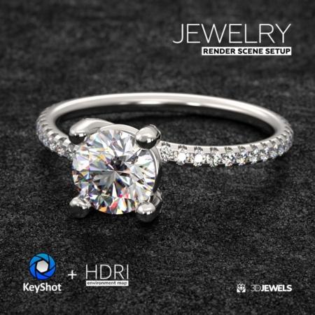 Jewelry-Ring-Rock+KeyShot-Scene-Setup-View01