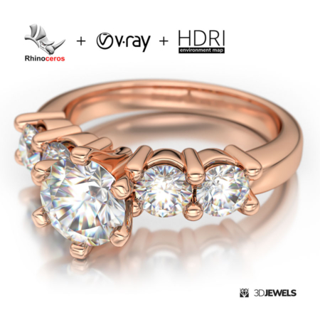 Rhinoceros + V-Ray 3D Jewelry Render Scene Setup - (1080)-View1