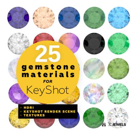 25-gemstone-shaders-for-KeyShot-pack1-View1