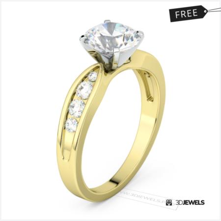round-cut-diamond-tapered-shank-ring-image-1