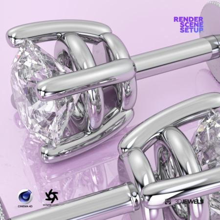 Realistic Scene Setup for Jewelry Rendering Cinema 4D Octane Render IMG3