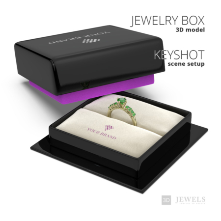 Jewelry-Ring-Box+KeyShot-Scene-Setup-View1